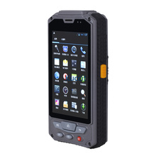 "Android Wireless Handheld Terminal Fingerprint 1D 2D Laser Barcode Scanner 4.3"" PDA RFID NFC 3G Data Collector Rugged Cell phone(China)"