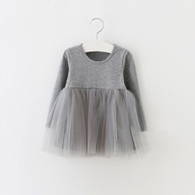 Kids Girls Princess Dresses Infant Dress Newborn Girls Clothes Baby Cotton Long Sleeve Clothing 0-4 Years