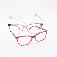 2017 Factory outlet solid unisex glasses high quality fashion men and women glasses frame equipped with myopia glasses(China)