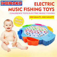 Fishing Game Musical Educational Action Toys Reflex for Kids Children Electronic Magnetic Fishing Toy Music Developmental Toy(China)