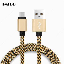 Micro USB Cable 0.25/1/2/3m Short Nylon Braided Cord Sync & Charging Cables for samsung galaxy S7 S6 Power Bank Android Phone 3