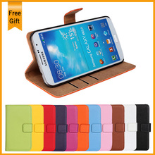 Luxury genuine leather Flip Stand Design Case For Samsung Galaxy Mega 6.3 i9200 I9205 Phone Cover Card Slot Drop Ship(China)