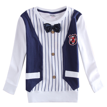 Nova kids stylish new designs  long sleeves with fashion bow tie formal tshirts for baby  boys