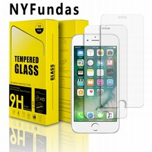 10PCS For iPhone 7 Plus Screen Protection NYFundas Tempered Glass Screen Protector Film For iPhone 6 6S Plus Screenprotector 5.5(China)