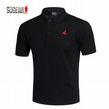 New Men Polo Breathable Shirt Short Sleeve Sports Golf Tennis T-Shirt Exercise Fitness Quick Dry Workout Solid Color Jersey