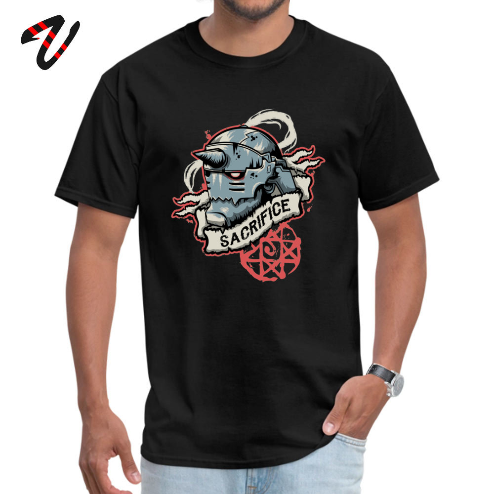 2018 New Fashion Men T-shirts Crew Neck Short Sleeve Pure Cotton Sacrifice Tops Tees Casual T-shirts Wholesale Sacrifice 15340 black