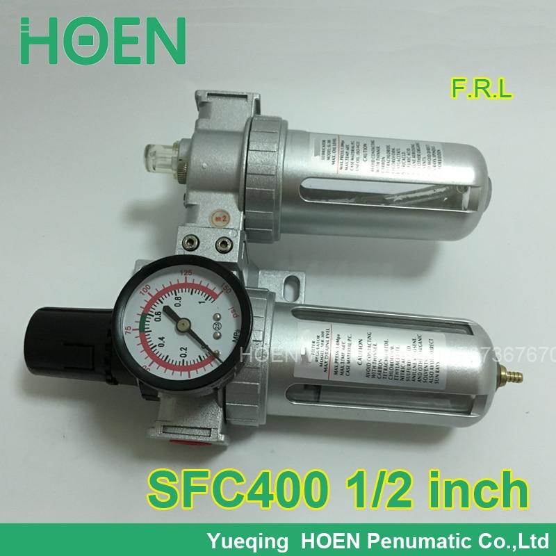 SFC400 SFC-400 1/2 port size F.R.L Air Source Treatment Unit Filter Regulator Lubricator SFC200 SFC300 SFC400<br><br>Aliexpress