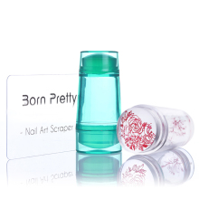 Double Head Clear Jelly Silicone Nail Stamper 2.2cm 2.7cm with Scraper Stamping Nail Art Tool Set for Nail Stamp Plate Tool(China)