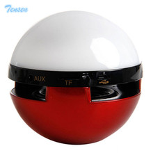 Tensen Pokeball GO Mini Speaker Portable Wireless Bluetooth Stereo Boombox Support TF Card AUX With Mic Colorful Night LED Light