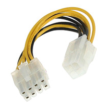 Cable Lead-Adapter Cpu-Power-Converter Office-Supplies 4pin 8pin Female 1pcs Male-To-8-Pin