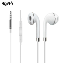 RAVI Original Earphone For iPhone 5 5S 6S Apple Earphones In Ear Earphone Earbuds Bass Headset audifonos With Mic fone de ouvido