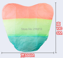 Rainbow Heart-shaped Paper Flying Chinese Lantern Kongming Light Floating Wedding birthday Party valentines gift