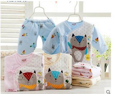 2016 autumn winter Newborn baby underwear children boy girl clothing set baby boys Warm clothes kids cotton clothing set suit<br>