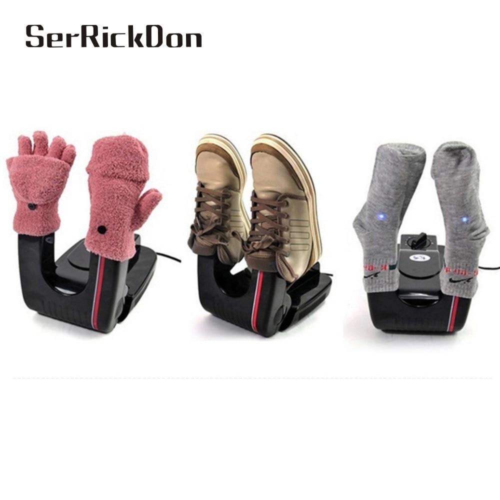 150w EU US Bake Shoe Device Drying Machine sterilization Antiperspirant Folding Portable Electric Shoe Dryer shoes boots gloves <br>