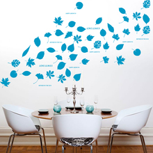 Creative Leaf Wall Sticker Maple Leaf Solid Handmade Garden Wall Sticker Baby Enfant Kids Rooms Wall Art Poster Home Decoration