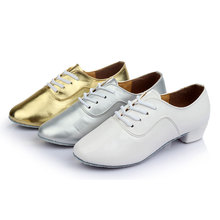 NEW Men's Modern Ballroom Party Tango Dance Shoes Lace Up Indoor Suede Sole Man Dancing Training Shoes Heeled 3.5cm
