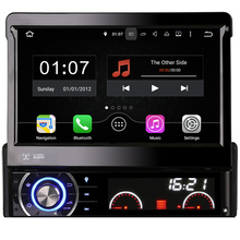 "Single DIN 7"" Android Auto GPS Navigation for Universal Car DVD Player Radio Stereo Quad Core 16GB Mirror Link WIFI BT 3G RDS TV"