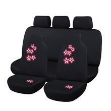 Car Seat Covers For Women Girl Universal Fit Most Cars And Airbag Compatible Pink Red Color With Flower For VW Golf Polo Fiat