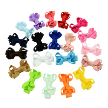 1 Pcs Small Mini Solid Bow Hairgrips Sweet Whole Wrapped Safety Hair Clips Kids Hairpins Hair Accessories 615