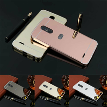 "5.7"" Capa For LG Stylus 3 Case Luxury Mirror Metal Aluminum+Acrylic Hard Back Cover Accessory Fundas For Lg Stylus 3(China)"