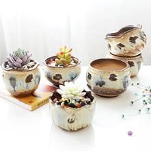 4 шт. красивый горшок цветок ручной работы сад кашпо Декоративные Фарфор сочные горшки керамический горшок завод рисования(China)