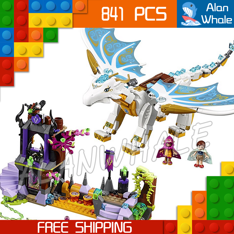 841pcs New Queen Dragons Rescue 10550 Model Building Blocks 3D Children Fairy Tale Princess Toys Bricks Compatible with Lego<br>
