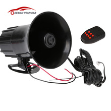 KKmoon 7 Sounds Tone Car Motorcycle Truck Horn 12V 50W 150DB Electronic Speaker Loud Siren Alarm Loudspeaker Black(China)