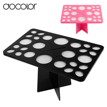 Docolor makeup brushes holder organizer Stand Tree Dry Brush Hold Brushes Accessories Comestic Brushes Aside Hang Tools(China)