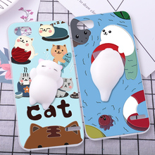 ShuiCaoRen Silicone Case For ZTE Geek 2 S2003 phone shell Relax Cat 3D Squishy Pinch Cover Fundas For ZTE S2003(China)