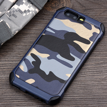 Keysion Phone Case for Huawei P10 P10 Plus Army Camo Camouflage Pattern PC+TPU 2 in1 Anti-knock Protective Back Cover for P10