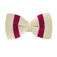New Arriving Fashion Bowties Classic Cream Color Knitted Bow Tie for Women Men's Gift LH-337(China)