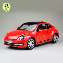 1:18 Scale VW Volkswagen,New Beetle,Diecast Car Model,Welly FX models,Red