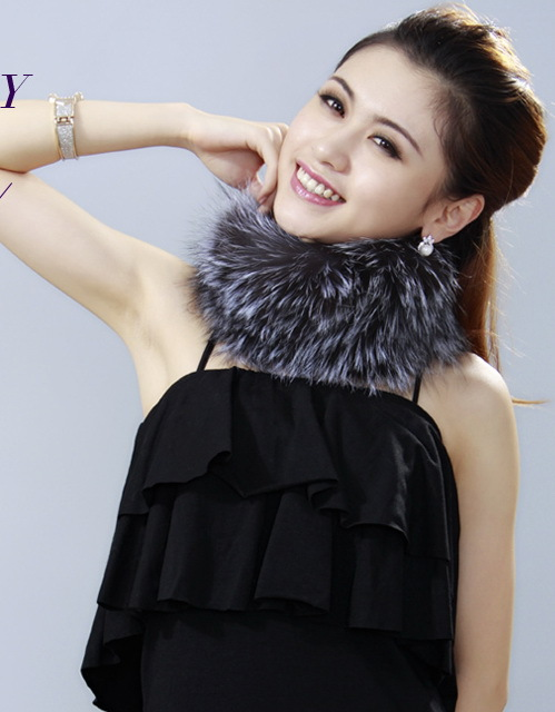 Free Shipping CDS004 Europe Hot Sale Knitted Fox Fur&amp;Raccoon Fur Collars Can Used As Neck WarmerОдежда и ак�е��уары<br><br><br>Aliexpress