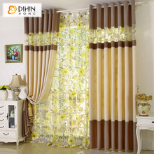 DIHIN 1 PC Garden Shade Window Blackout Curtain Fabric Modern Curtains for Living Room the Bedroom Kitchen Window Drapes Blinds