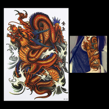 1 PC Water Transfer Body Arm Leg Art Temporary Tattoo Sticker HB345 for Women Men Chinese Dragon Make up Shoulder Tattoo Designs