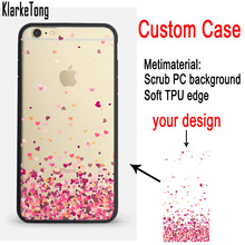 Custom DIY Print Phone Cases For iPhone 6 6S 7 8 Case Personalized Soft Silicone Hard PC Back Shell Cover(China)
