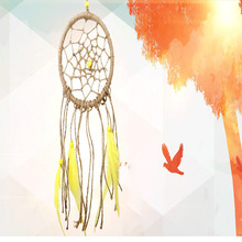 Handmade Flax DreamCatcher feather Hanging Decoration Wall Native Wind Chimes Ornament Car Pendant Dream catcher Home Decor Gift