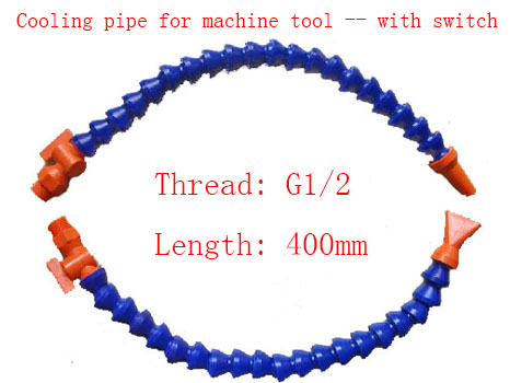5PCS G1/2-400mm Round Head Cooling Tube/ Water Cooling Pipe Coolant Oil Plastic Pipe for Engraving Machine Tool,Belt switch<br>