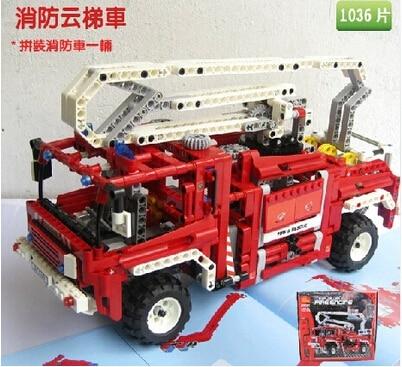 Fire Engine Truck Technic Exploiture Building Blocks 1036pcs Decool 3323 Set Model Educational DIY Bricks Kids Toy free shipping<br>