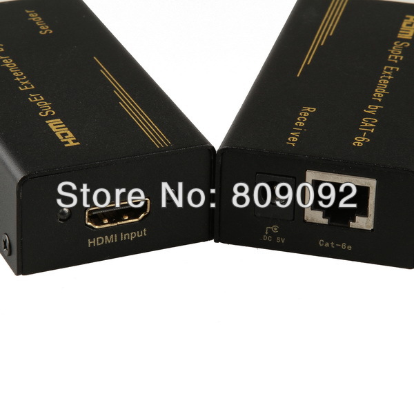 HDMI Video Audio to single Cat5e/Cat6e extender 1080P FULL HD 60M for HDTV<br><br>Aliexpress