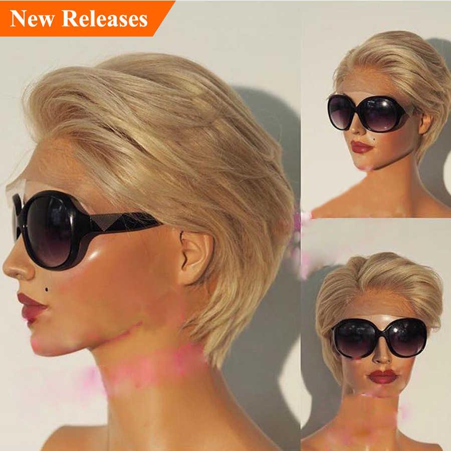 Девушка с короткими светлыми волосами фото со спины
