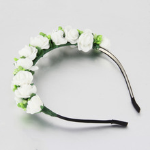 Flower Garland Floral Bridal Headband Hairband Wedding Prom Hair Accessories Wedding Jewelry Headwear Accessories 2017 hot sales