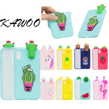 For iPhone X Capa DIY 3D Cute Cartoon Fruit Pattern Soft Silicone Rubber Case Cover For iPhone 5 5s SE 6 6s 7 7 Plus 8 Coque(China)