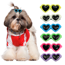 35pcs/lot Cute Sunglass Shape Dog Puppy Hair Clips Kitten Hair Bows Pet Hairpin Grooming Accessories