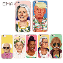 Country Leader Barack Obama Trump Hillary Marx Gandhi Claus Case Cover For iPhone 6 6s Plus 7 Plus 5 5s Soft Silicone TPU Fundas(China)