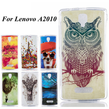 Never Stop Bad Dog Balloon Tower Lake Owl Design TPU Case sFor Lenovo A2010 A 2010 Covers Soft Painted Cell Phone Bags
