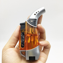 New Style Mini Orange Wholesale Windproof Torch Repeated Use Butane Gas Jet Flame Cigarette Lighter(China)
