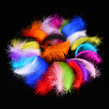Woosee 20pcs Colors Feathers 5-12cm Goose Feather Plumage for Wedding Centerpieces Carnival Hat Hair Accessories Craft Ornaments
