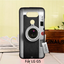 Adorable Colored Drawing Hard Back phone Accessories For case LG G5  classic retro Black silver vintage camera Design