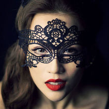 2017 Real New Adults Horse Mask Mascaras Black/white Sexy Eye Butterfly Mask Nightclub Xmas Lace Embroidery Cutout Veil K6213